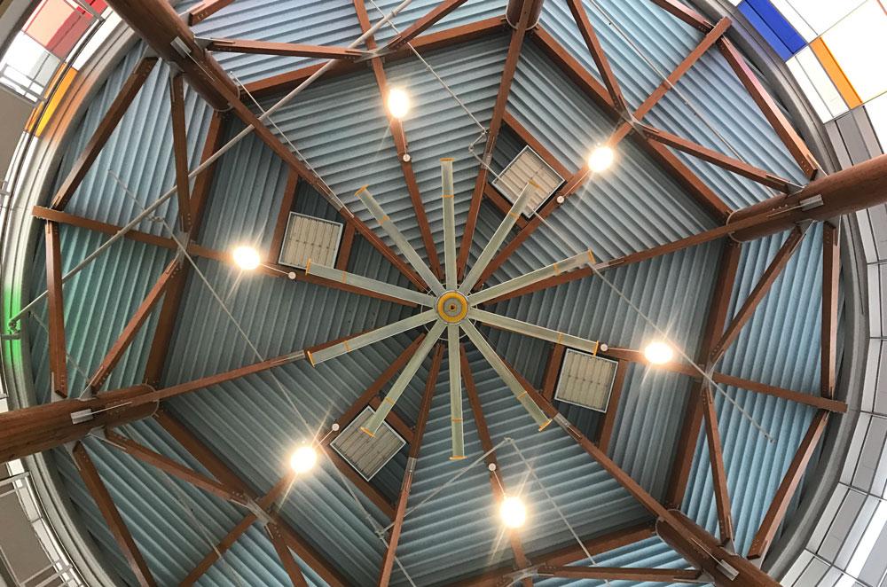 ceiling of Kempsville Recreation Center