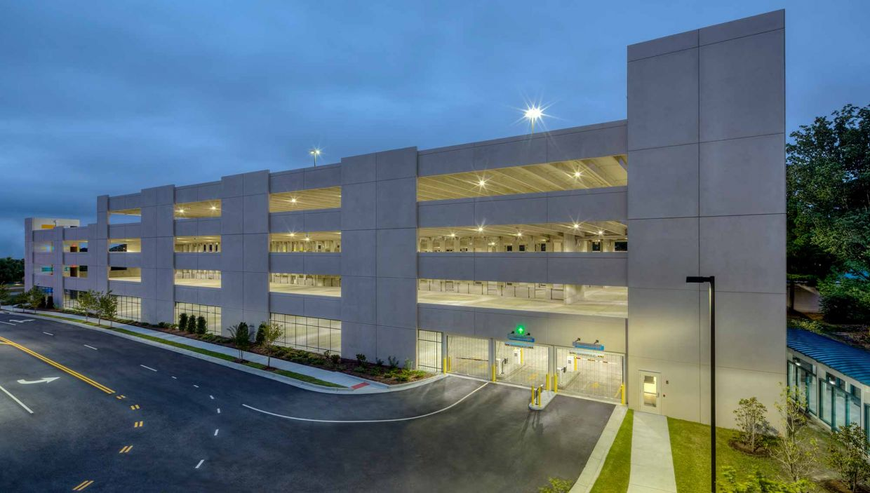 usaa parking garage exterior view